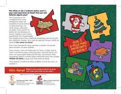 FOLHETO DE NATAL INFANTIL  (pacote c/ 100 unidades)